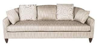 Baker Ikat Upholstered Sofa