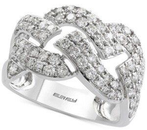 Effy Pave Classica by Diamond Ring (1-1/3 ct. t.w.) in 14k White Gold