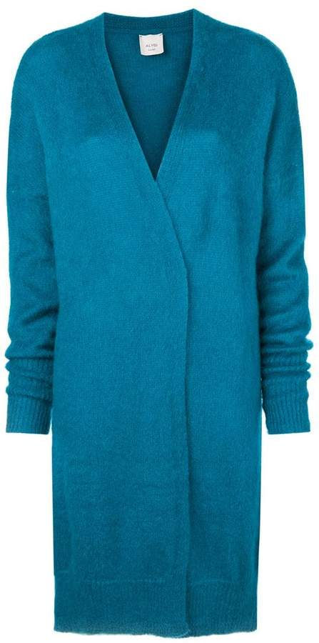 Alysi long fitted cardigan