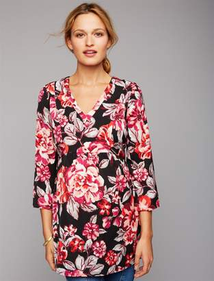 A Pea in the Pod Tie Back Floral Maternity Tunic