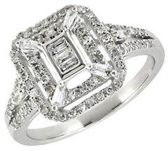 Tag Heuer FINE JEWELLERY 0.375TCW Diamond and 14K White Gold Square Vintage Ring
