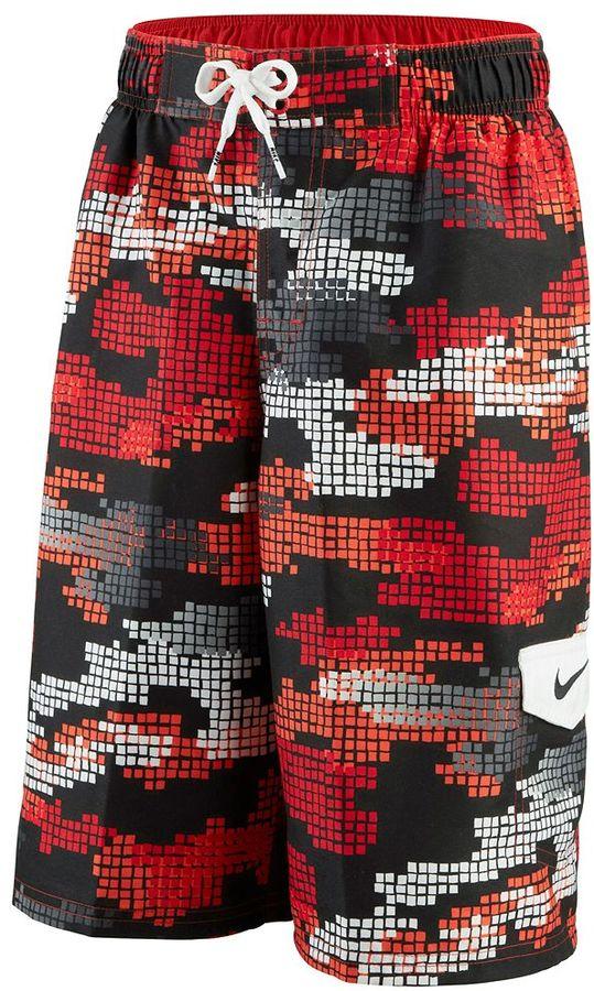 Camo Nike tech swim trunks - boys 8-20