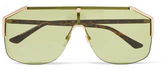 Gucci Aviator-style Gold-tone Sunglasses - Green