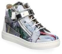 Giuseppe Zanotti Baby's, Toddler's& Kid's Marble Hi-Top Double Zip Bar Sneakers
