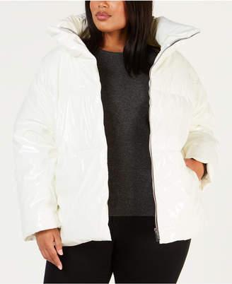 Calvin Klein Plus Size Shiny Puffer Jacket