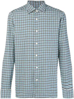 Kiton gingham checked shirt