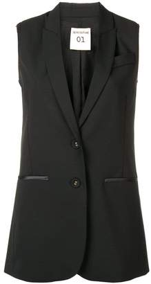 Semi-Couture Semicouture sleeveless classic blazer