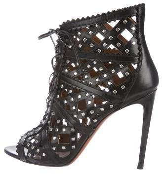 a8ae769cf265a9 Pre-Owned at TheRealReal · Alaia Studded Cage Sandals