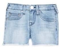 True Religion Girl's Frayed Denim Shorts