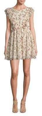 Molly Bracken Floral-Print Ruffled Sheath Dress