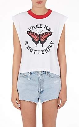 Off-White Women's Free As A Butterfly Cotton-Linen T-Shirt