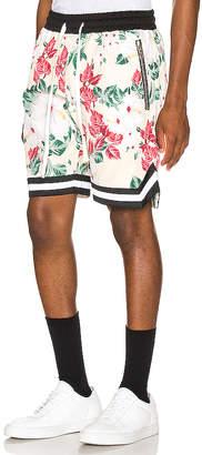 Crysp Denim Floral Jordan Ball Shorts
