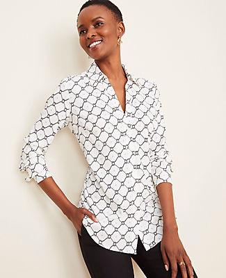 Ann Taylor Roped Link Essential Shirt