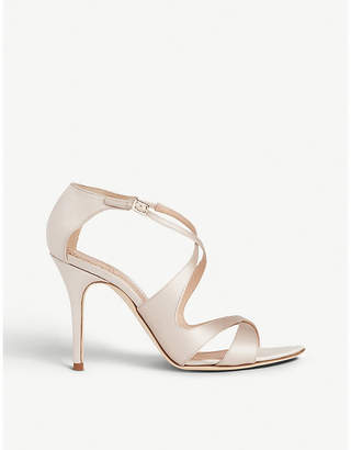 LK Bennett x Jenny Packham Brielle satin heeled sandals
