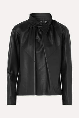 Isabel Marant Chay Textured Leather Blouse - Black