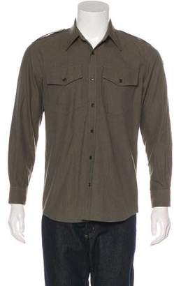 Dries Van Noten Military Button-Up Shirt