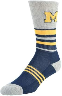 NCAA Women's Mojo Michigan Wolverines Walk the Line Crew Socks