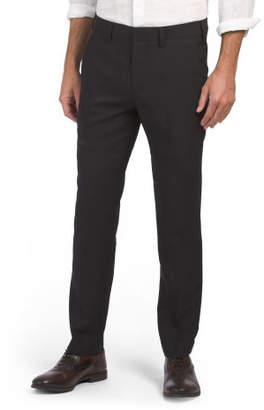 Slim Fit Stretch Textured Weave Dress Pants