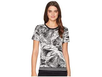 Lauren Ralph Lauren Tropical-Print Linen-Blend Top Women's Clothing