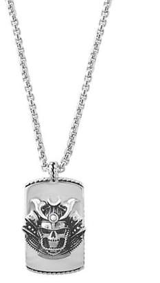 Effy Sterling Silver Skull Pendant Necklace
