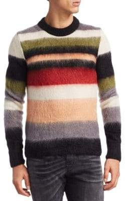 Saint Laurent Multi-Striped Knitted Sweater