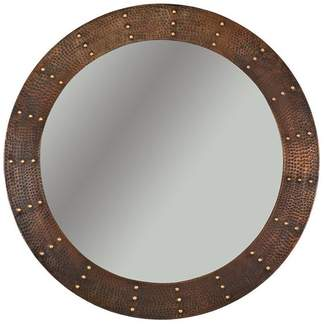 Premier Copper Products 34 Hand Hammered Round Copper Mirror