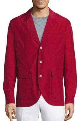 Saks Fifth Avenue COLLECTION Solid Long-Sleeve Sportcoat