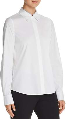 Lafayette 148 New York Phaedra Embellished Collar Blouse