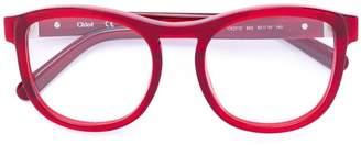Chloé Eyewear acetate round framed glasses