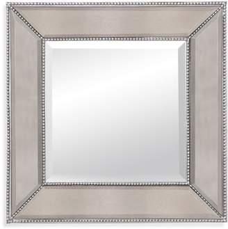 Pottery Barn Beveled Glass Beaded Square Mirror