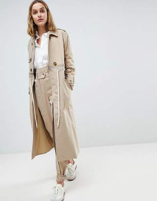 Asos Trench Coat Co-Ord With Rope Detail