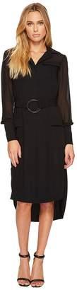 Laundry by Shelli Segal Military Style Shirtdress Women's Dress