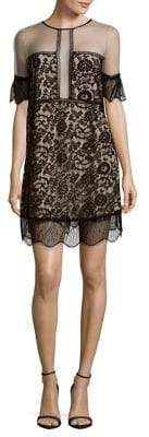 KENDALL + KYLIE Paneled Lace Babydoll Dress