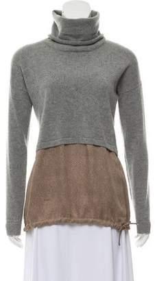 Fabiana Filippi Lightweight Turtleneck Combo Sweater