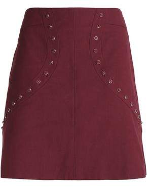 M Missoni Studded Cotton-Blend Ponte Mini Skirt