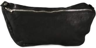 Guidi distressed leather shoulder bag