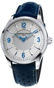 Frederique Constant Horological Porous Leather Strap Smart Watch