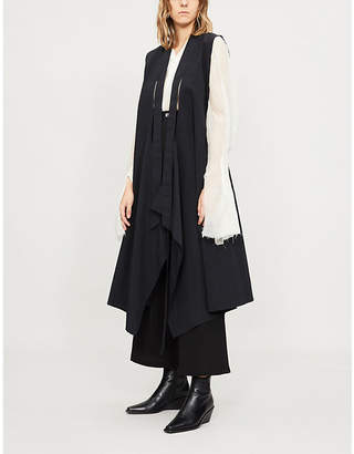 Limi Feu Open-back sleeveless tie-front jacket