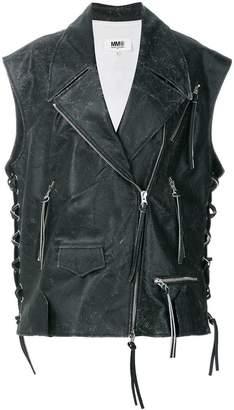 MM6 MAISON MARGIELA sleeveless biker jacket