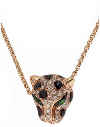 Effy 14k Rose Gold Diamond Tsavorite Necklace
