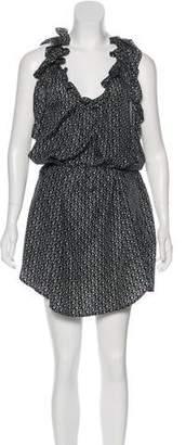 Etoile Isabel Marant Silk Printed Ruffle-Trimmed Dress
