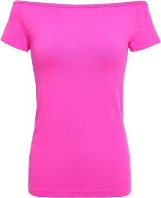 Helmut Lang Off-the-shoulder Stretch-jersey T-shirt