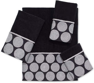 Avanti Dotted Circles Fingertip Towel Bedding