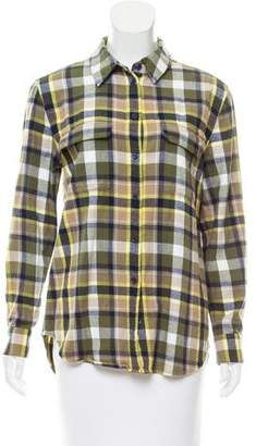 Equipment Plaid Button-Up Top