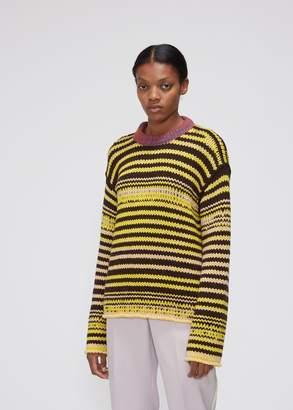 Calvin Klein Extra-Long Sleeve Striped Crewneck