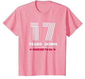 17th Wedding Anniversary T-Shirt Funny For Married In 2001 Y