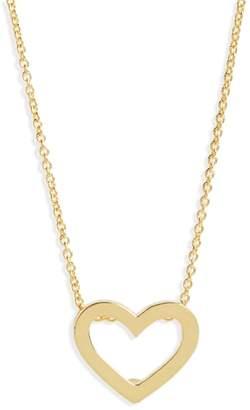 Roberto Coin Gold Open Heart Necklace