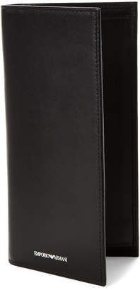 Emporio Armani Black Leather Pocket Wallet