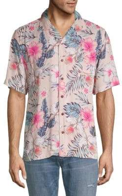 Standard Issue NYC Tropical-Print Button-Down Shirt