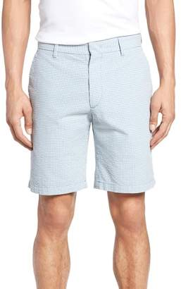 Zachary Prell Fringe Check Seersucker Shorts